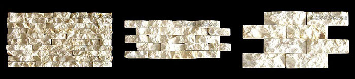 white stone claddings